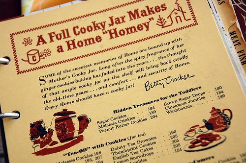 vintage Betty Crocker cookbook