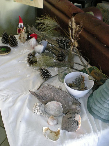 winter nature table