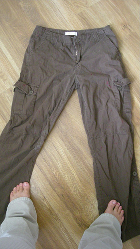 cargo pants - before