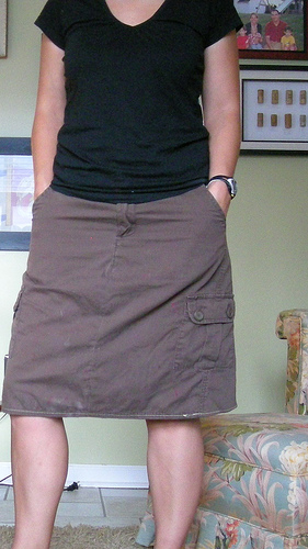 cargo skirt - after