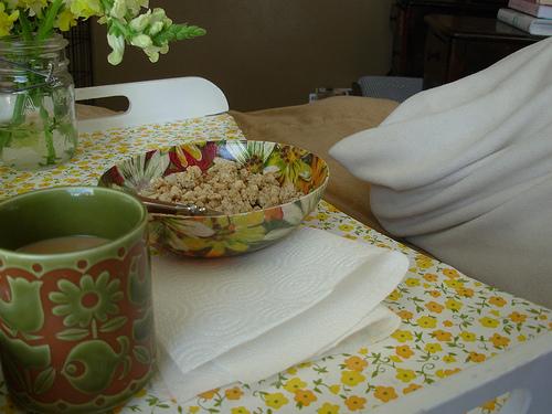 breakfast tray makeover