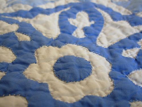 Blue Quilt Stitching