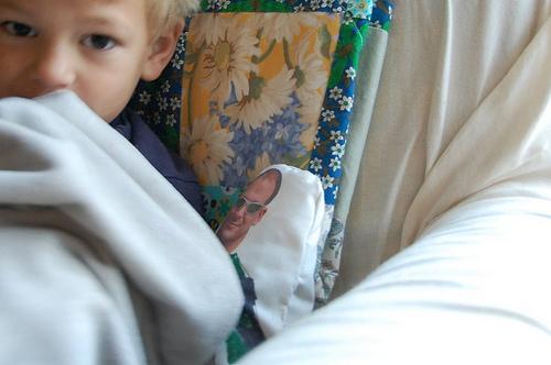 Wyatt with his Daddy Doll