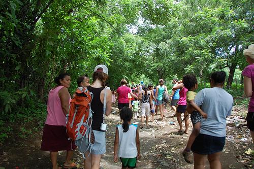 a walk through vera cruz, nicaragua with our new friends