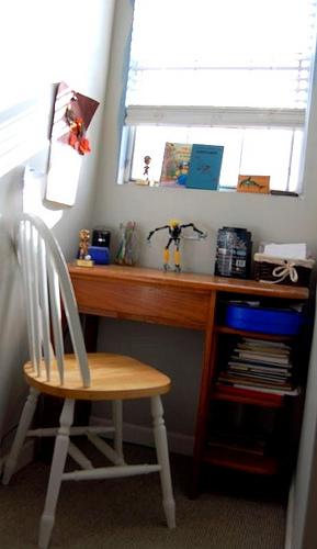 zane's desk area