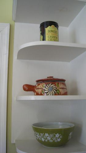corner: kitchen shelf