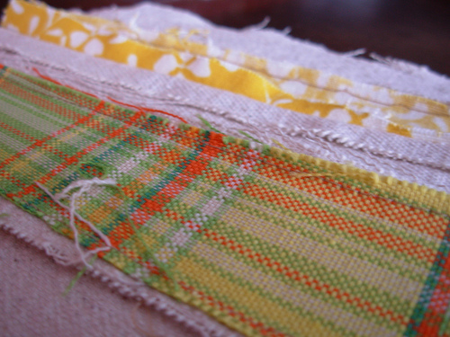 back side of quilt square