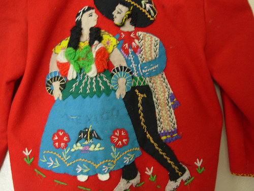 Child's Mexican Tourist Jacket  - detail back
